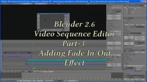Blender 2 6 Video Sequence Editor VSE Series